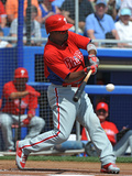 Dunedin, Fl - March 6: Philadelphia Phillies v Toronto Blue Jays - Carlos Ruiz Photographic Print by Al Messerschmidt