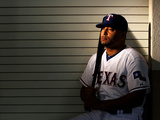 Surprise, AZ - February 28: Texas Rangers Photo Day - Scott Feldman Photographic Print by Jamie Squire