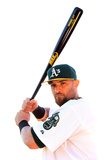 Phoenix, AZ - February 27: Oakland Athletics Photo Day - Coco Crisp Photographic Print by Christian Petersen