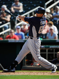 Goodyear, AZ - March 14: San Diego Padres v Cincinnati Reds - Clayton Richard Photographic Print by Kevork Djansezian