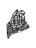 Typographic Maine 高画質プリント :  CAPow