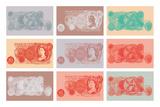Vintage Bank Notes Art