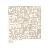 Typographic New Mexico Desert Premium Giclee Print by  CAPow