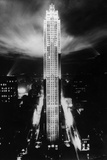 Rockefeller Center at Night, 1939 Photographic Print by  Scherl