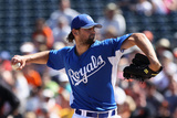 Surprise, AZ - March 12: San Francisco Giants v Kansas City Royals - Luke Hochevar Photographic Print by Christian Petersen