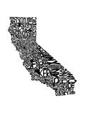 Typographic California Premium Giclee Print by  CAPow
