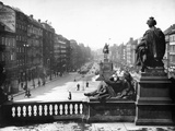 Wenceslas Square in Prague, 1936 Photographic Print by Scherl