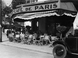Sidewalk Cafe in Tangier, 1934 Photographic Print by Scherl