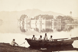 Palace in the Lake of Udaipur Photographic Print by  Scherl