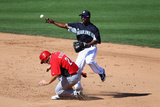 Peoria, AZ - March 06: Cincinnati Reds v Seattle Mariners - Ichiro Suzuki Photographic Print by Christian Petersen