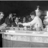 Cafe in Barcelona, 1930 Photographic Print by  Scherl