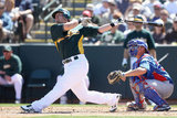 Phoenix, AZ - March 20: Chicago Cubs v Oakland Athletics - Bryan LaHair Photographic Print by Christian Petersen