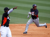 Jupiter, FL - March 13: Atlanta Braves v Miami Marlins - Jason Heyward Photographic Print by Sarah Glenn