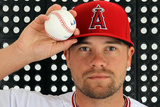 Tempe, AZ - February 29: Los Angeles Angels Photo Day - Ryan Langerhans Photographic Print by Jamie Squire