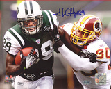 Jerricho Cotchery Stiff Arm vs Redskins Autographed Photo (Hand Signed Collectable) Fotografía