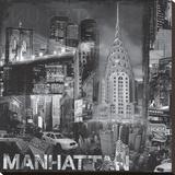 New York City V Stretched Canvas Print by John Clarke