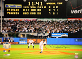 Mariano Rivera Final Pitch at Yankee Stadium Scoreboard Photo