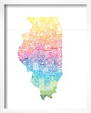 Typographic Illinois Spring Print by  CAPow