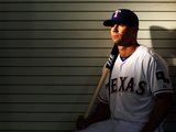 Surprise, AZ - February 28: Texas Rangers Photo Day - Michael Young Photographic Print by Jamie Squire