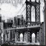 New York XII Stretched Canvas Print by John Clarke