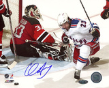 Chris Drury Celebrating Goal vs Devils Autographed Photo (Hand Signed Collectable) Photo