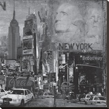 New York City IV Stretched Canvas Print by John Clarke