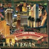 Las Vegas III Stretched Canvas Print by John Clarke