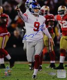 Lawrence Tynes Celebrating vs. San Francisco Vertical Photo Photo