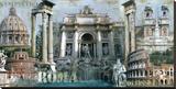 Roma I Reproduction transférée sur toile par John Clarke