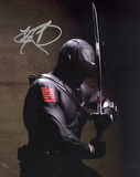 Ray Park GI Joe In Black Suit Vertical Photo Fotografía