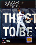 Endy Chavez NLCS GM 7 Robbing Home Run Autographed Photo (Hand Signed Collectable) Photo