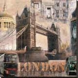 London II Stretched Canvas Print by John Clarke
