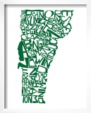 Typographic Vermont Green Print by  CAPow