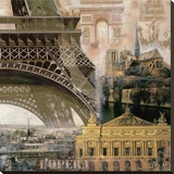 Paris III Stretched Canvas Print by John Clarke