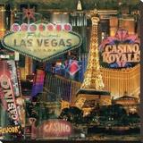 Las Vegas II Stretched Canvas Print by John Clarke
