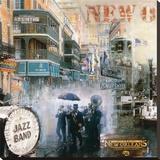 John Clarke - New Orleans II Reprodukce na plátně