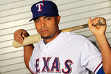 Surprise, AZ - February 28: Texas Rangers Photo Day - Nelson Cruz Photographic Print by Jamie Squire