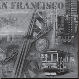 San Francisco II Stretched Canvas Print by John Clarke