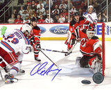 Chris Drury Game Tying Goal vs Devils Autographed Photo (Hand Signed Collectable) Photo