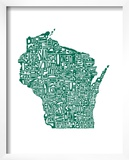 Typographic Wisconsin Forest Poster by  CAPow