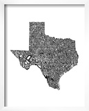 Typographic Texas Prints by  CAPow
