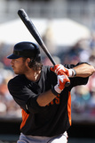 Surprise, AZ - March 12: San Francisco Giants v Kansas City Royals - Alcides Escobar Photographie par Christian Petersen