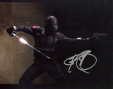 Ray Park GI Joe In Black Suit Horizontal Photo Fotografía