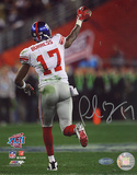 Plaxico Burress SB XLII Running Down Field After TD graph Photographie