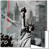 Statue of Liberty Metal Print by  Luger