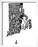 Typographic Rhode Island Prints by  CAPow