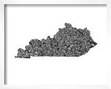 Typographic Kentucky Prints by  CAPow