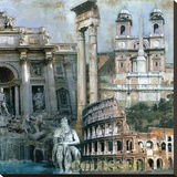 Roma III Stretched Canvas Print by John Clarke