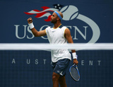 James Blake US Open Fist Pump Signed Fotografía