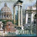 Roma II Stretched Canvas Print by John Clarke